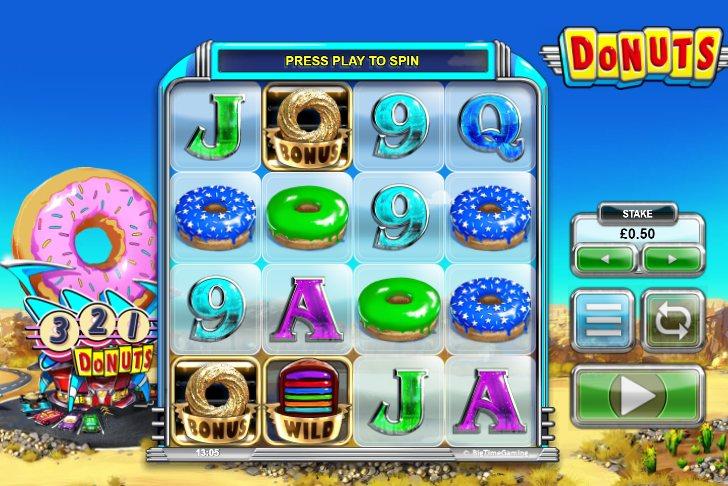 Vind gratis spins med Big Times Donuts spillemaskine