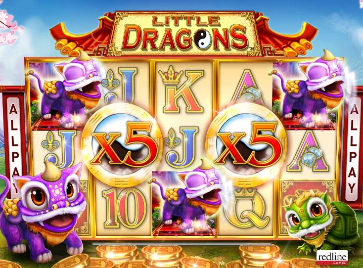 Vind 5000x din indsats på Little Dragons online slot
