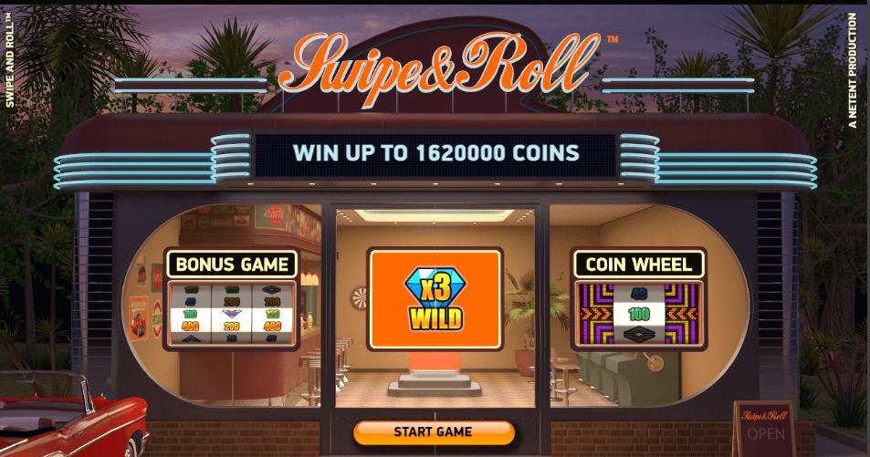Swipe & Roll dine mønter i den nye NetEnt slotautomat