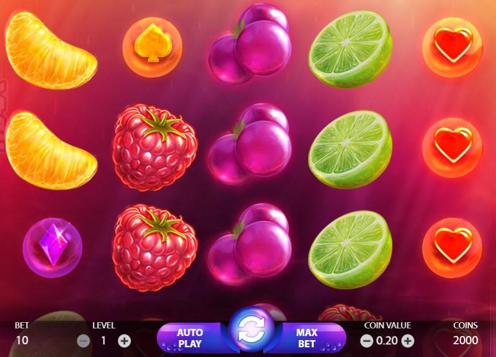 Spilanmeldelse af spilleautomaten Berry Burst - en super spændende online slot maskine.